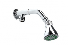 Intacept Commercial Bottom Entry Shower Arm + Rub Clean Head