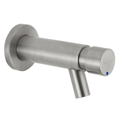 Inta Non Concussive Wall Bib Tap - Stainless Steel