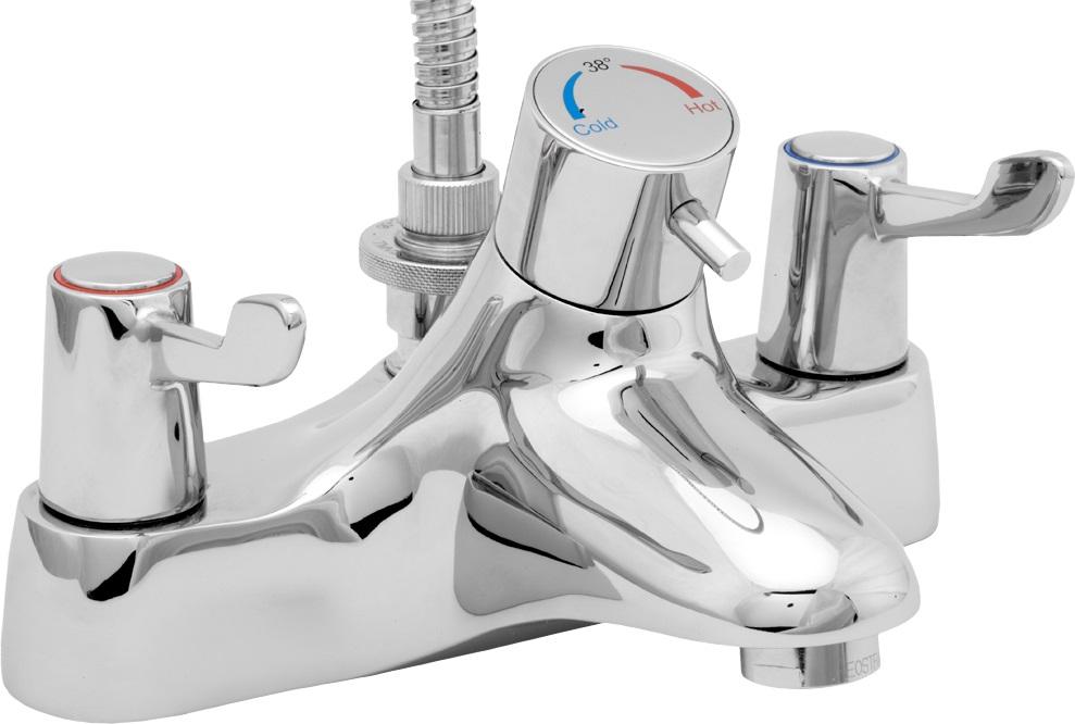 Thermostatic Bath Shower lever action thermostatic bath shower mixer - notjusttaps.co.uk