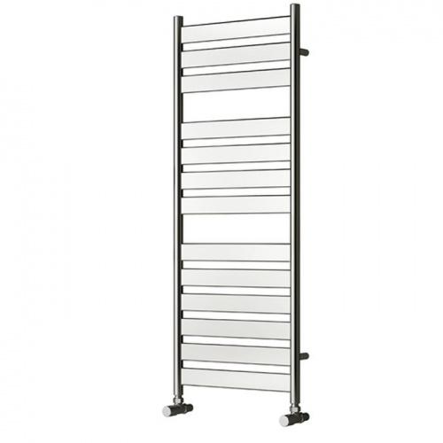 Heated Towel Rail Vertical: Vertical Flat Bar Chrome Heated Towel Rail 950 X500