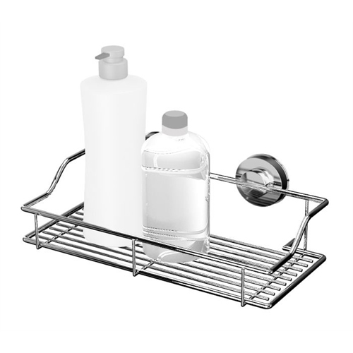 Super Suction Wire Shower Basket - Extra Wide - Notjusttaps.co.uk