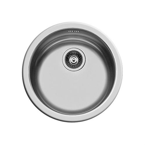 Pyramis 450mm Single Round Bowl Kitchen Sink - Notjusttaps.co.uk