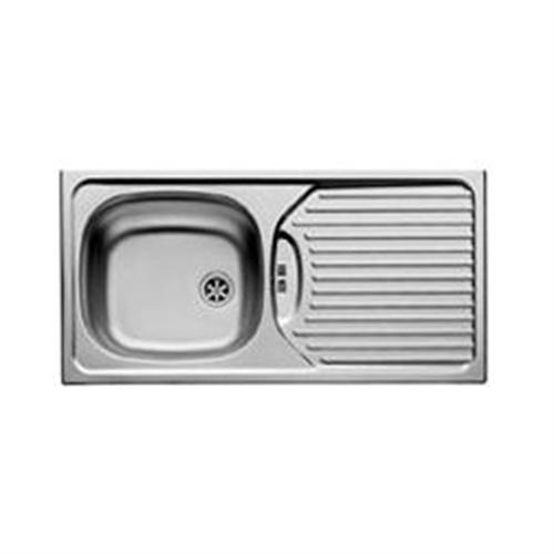 Pyramis Slimline Single Bowl & Drainer Kitchen Sink - Notjusttaps.co.uk