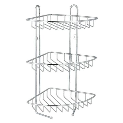 Stainless steel triple tier wire storage caddy - Bathroom corner caddy stainless steel ...