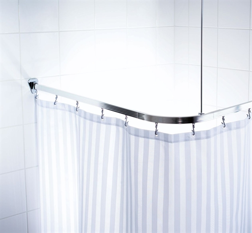 Universal Shower Curtain Track Chrome Notjusttaps Co Uk