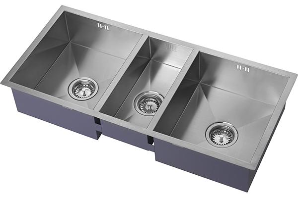 Zen Triple Bowl Luxury Sink - Notjusttaps.co.uk