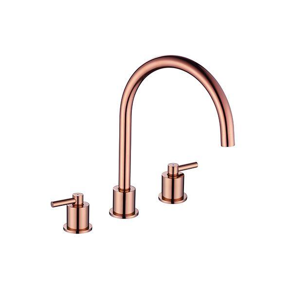 Aero 3 Hole Copper Finish Kitchen Tap Notjusttaps Co Uk