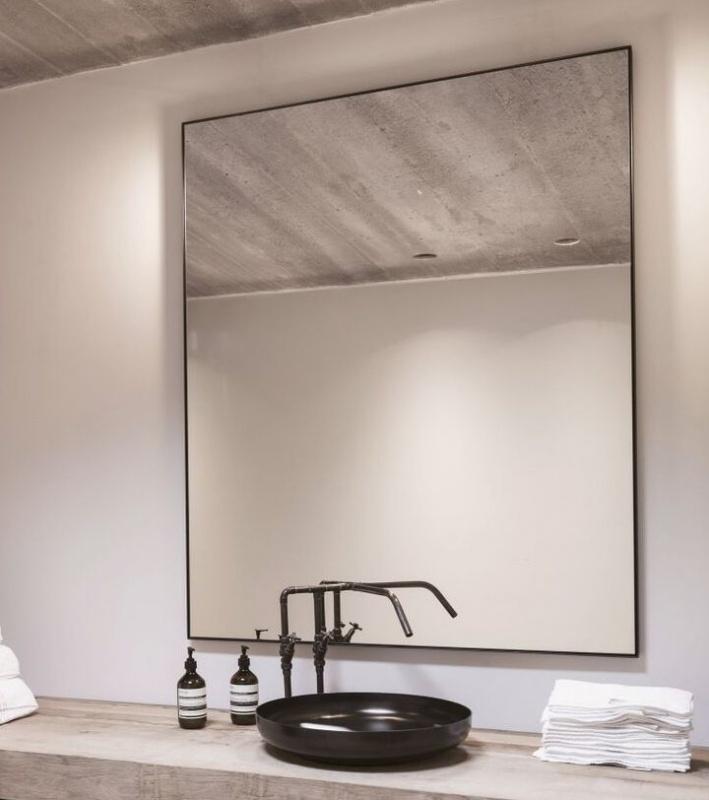 Docklands Rectangular Black Bathroom, Rectangular Bathroom Mirror