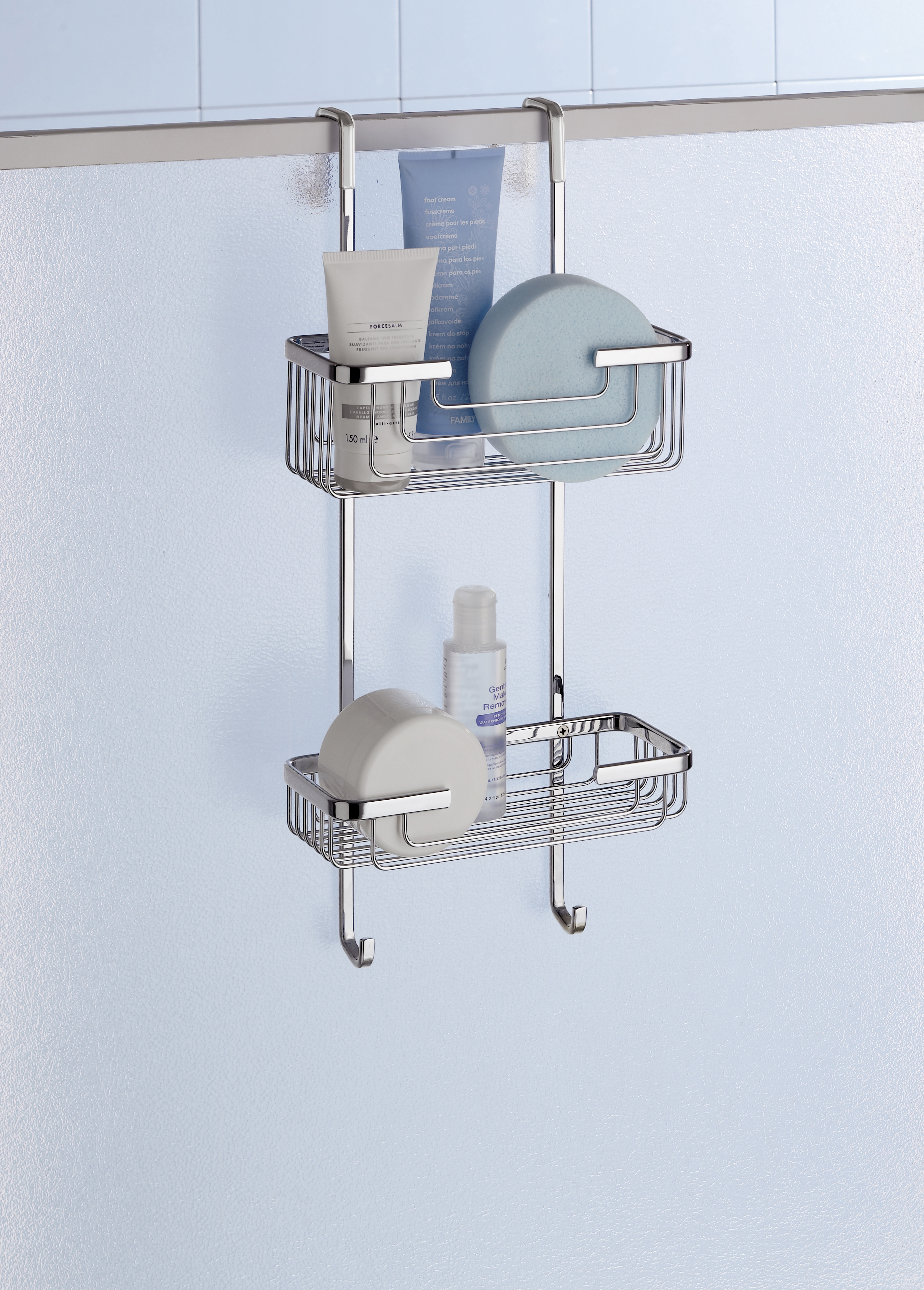 Deluxe 2 Tier Overdoor Hanging Shower Cubicle Tidy - Notjusttaps.co.uk