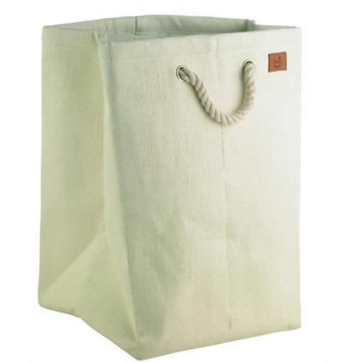 Drawstring Laundry Basket - Cream