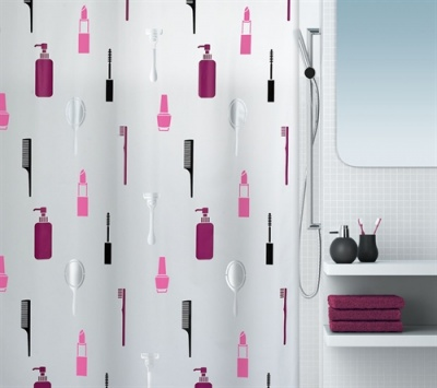 'Make Up' Shower Curtain