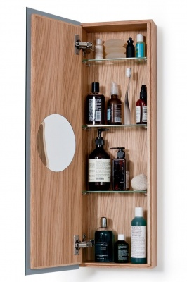 Natural Oak 800 Slimline Bathroom Cabinet