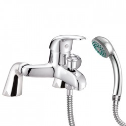 Optima Bath Shower Mixer - Deck Mounted