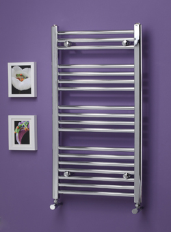 Premium Chrome Heated Towel Rail 1200 x 500