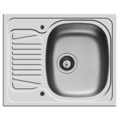 Pyramis Sparta Compact Bowl/Drainer Stainless Sink
