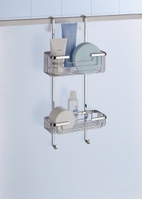 Gedy Deluxe 2 Tier Overdoor Shower Caddy