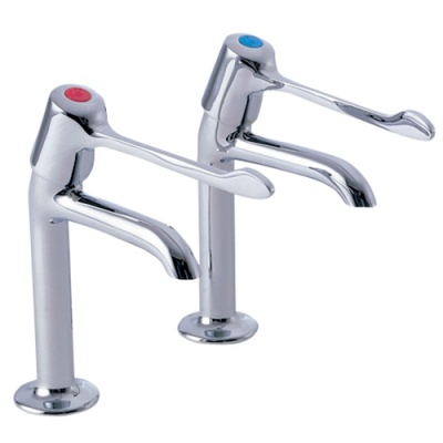 Performa Utility Extended Lever High Neck Sink Taps (pair)