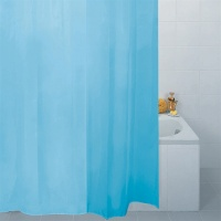 Plain Blue Shower Curtain