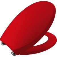 Bemis Care Visual Assist Toilet Seat - Assistive Red
