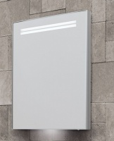 Space II LED Illuminated Semi-Recessed Single Door Cabinet