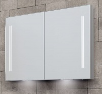 Space II LED Illuminated Semi-Recessed Double Door Cabinets - available in 3 sizes