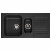 Century 1.5 Black Kitchen Sink