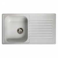 Century 10 White Kitchen Sink