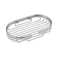 The 'Chrome On Brass' Oval Soap Basket
