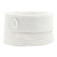 Confetti Bathroom Basket - White