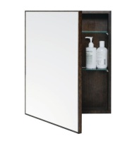 Slimline Dark Oak '550' Bathroom Cabinet