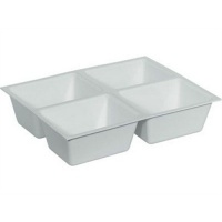 Deep Dental/Lab Drawer Insert - 4 Compartment Tray