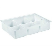 Deep Dental/Lab Drawer Insert - 6 Compartment Tray