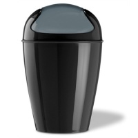 Koziol Swing Top Bin - Black