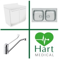 Hart Double Bowl Medical Wash Station