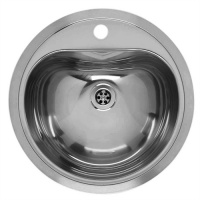Hart Round Medical Sink - 1 Tap Hole