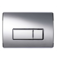 Contemporary Push Button Dual Flush Plate