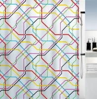 Metro 'Trainline' Shower Curtain