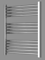 Milan Curved Heated Towel Rail - 800 x 500