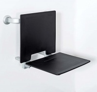 Removable slimline shower seat with back rest
