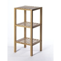 Natural Bamboo Bathroom Storage Unit