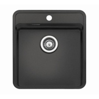 Ohio 50 x 40 Tapwing Sink -  Black
