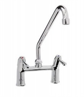 Monolith Commercial Sink Bridge Mixer - High Spout