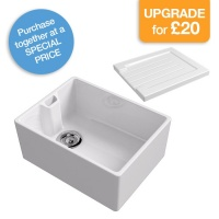 Belfast Contemporary Kitchen Sink with ceramic drainer