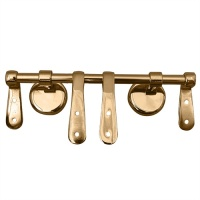 Replacement Toilet Seat Hinges - Polished Brass Finish