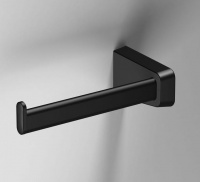 S6 Black Open Toilet Roll Holder