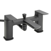 Raven Matt Black Bath Shower Mixer & Kit