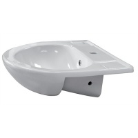 Semi-Recessed Ceramic Basin