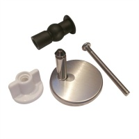 Stainless Blind Topfix Toilet Seat Hinge Set
