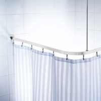 Universal Shower Curtain Track - White Finish