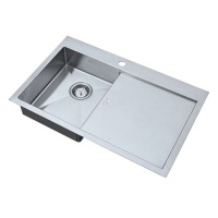 ZEN 'UNO' Accessible Kitchen Sink and Drainer - Left Hand Bowl